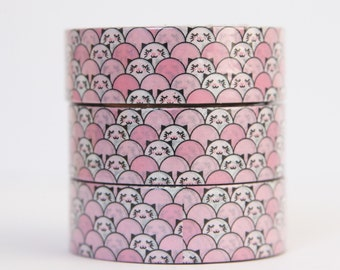 Washi tape kitten pink