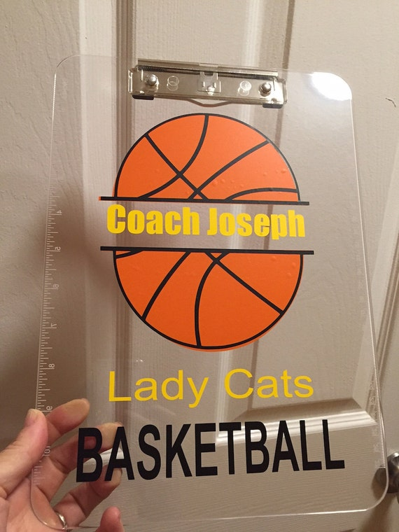 Basketball Coach Gift Personalized Clipboard By