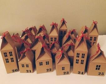 DIY Advent Calendar Houses Kit