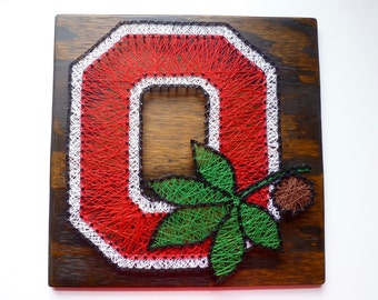 Ohio State Buckeyes String Art, Ohio State University Sign, Buckeye Sign, Ohio String Art, Ohio State String Art, Ohio State Buckeyes