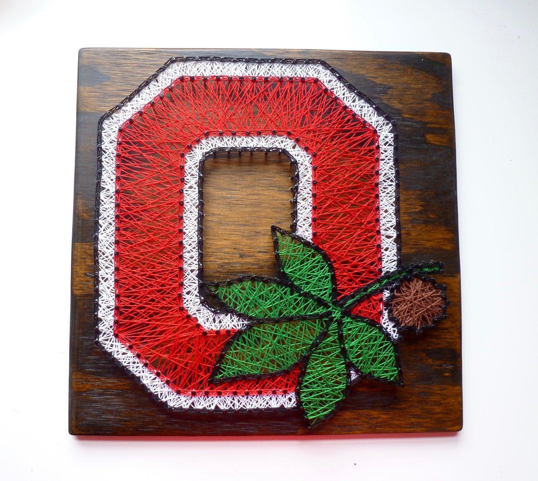 Ohio State Buckeyes String Art Ohio State University Sign