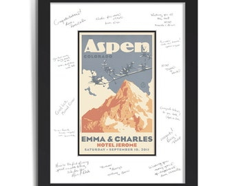 Mountain Wedding Personalized Art Guest Signing System (Large)