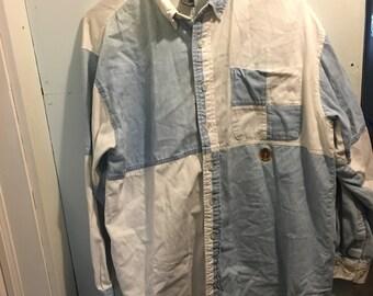 "Vintage 70s ""Half"" Denim Shirt"