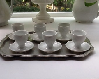 Beautiful Set of 6 Egg Cups from Germany