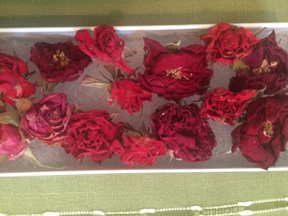 Dried roses real dried flowers red pink wedding for Dried flowers craft supplies
