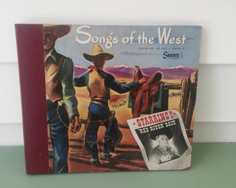 """A Vintage 1947 """"Red River Dave Album"""" Titled, Songs Of The West"""