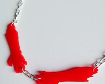 Sale | Zombie | Walking Dead | Halloween | Laser Cut | Acrylic | Necklace