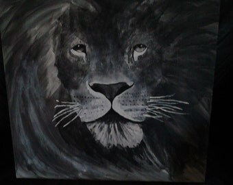 lion (painted by my partner)  (Sold)  ----  immage up for display/ show what can be done