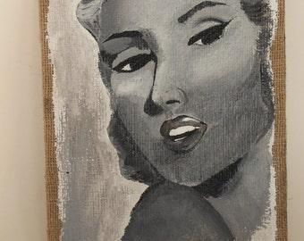 Marylin Monroe Acrylic Painting