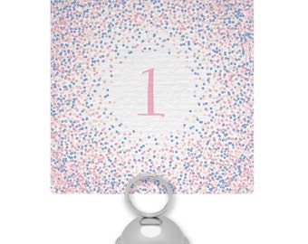 Confetti Wedding Table Numbers or Names
