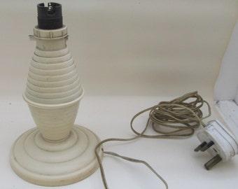 Vintage 1930s Cream Bakelite Lamp - British Fittings