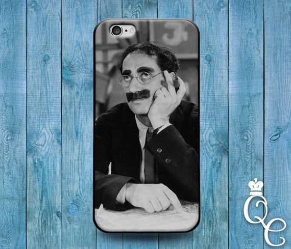 iPhone 4 4s 5 5s 5c SE 6 6s 7 plus iPod Touch 4th 5th 6th Generation Cute Funny Cool Groucho Marx Black White Middle Finger Phone Cover Case