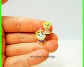 Mrs Potts & Chip miniature ,The beauty and the beast, Mrs. Bric La bella e la bestia, dollhouse miniature,chicco la bella e la bestia