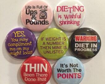 Diet Magnets - set of 7