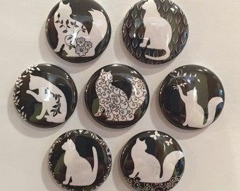 Cat Magnets - set of 7