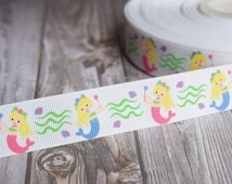 Mermaid ribbon - 3 or 5 yard lot - Mermaid love - Be a mermaid - Pretty mermaids - Under the sea - Mermaids are real - Magical creatures