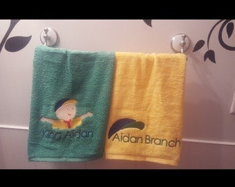 Caillou (inspired) Decorative Towel Set