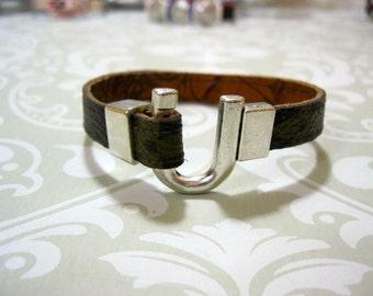 "Louis Vuitton 100% Authentic MONOGRAM Upcycled/Repurposed Bracelets  ""The U"""