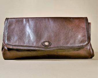 Vintage Brown Leather CT Bag, Shoulderbag, Shoulderpurse, Office Bag, Lady Purse