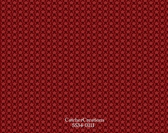 Marcus Fabrics, Prairie Gathering by Pam Buda, Civil War 1800s Reproduction Fabric, Red Star Fabric, 100% Cotton, by the Yard, R17-5534-0111