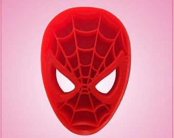 Marvel Spiderman Cookie Cutter. Red Detailed Plastic.