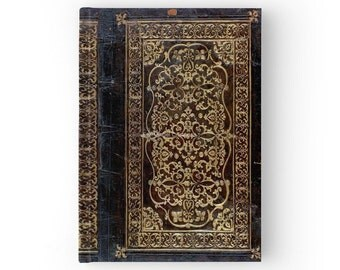 Hard Cover Journal Antique Style Gilded Leather Tome Book