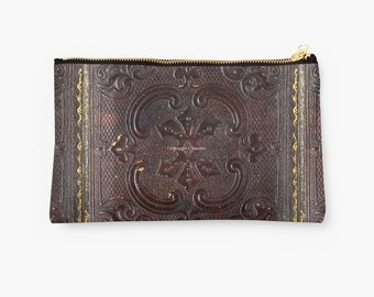 Carry-All Pouch, Ancient Leather Book Cover, 2 Sizes Available!