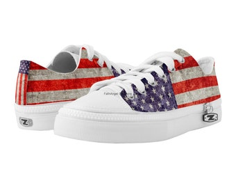 Antique American Flag Shoes, Mens & Womens, 14 Sizes Available - Free U.S. Shipping!