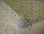Newborn Baby/Infant Changing Pad Cover White w/ Metallic Gold Arrows