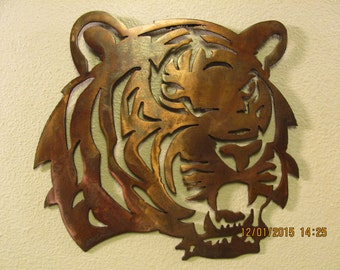 Tiger Head - Metal Wall Art