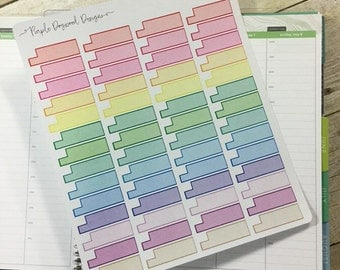 Bold & Colorful Shaded Hourly Life Planner Stickers!