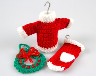 Free Crochet Pattern Amigurumi Christmas Crochet Patterns Crochet Decor Pattern Crochet Wreath Crochet Sweater Pattern Crochet Gloves P015