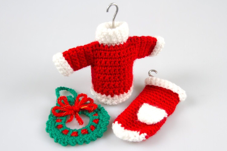 Crochet Decoration Patterns Crochet Wreath Etsy
