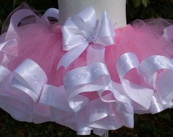 Ribbon trimmed tutu, Birthday tutu, Party tutu, Easter tutu, Photo Shoot Tutu