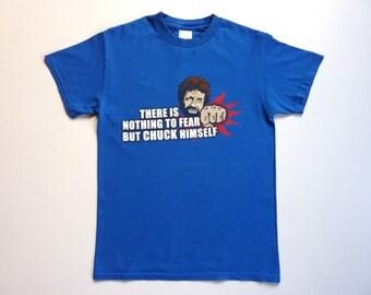 Vintage 90's Funny Summer Tee-Shirt Chuck Norris