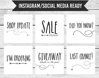 6 Instagram Ready Images for Shop Updates and Postings | Bright and Clean