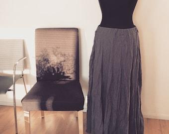 Long linen skirt, linen material, natural linen skirt, long skirt, maxi linen skirt