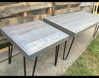 Matching set of grey tables , coffee and end table