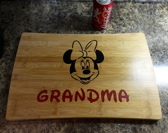 Minnie grandma / bamboo cutting board / chopping block / football / AR