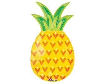 """Pineapple balloon. 31"""".  Large pineapple party balloon.  Fruit party balloons.  Tropical party decor.  Fruit balloon.  Fruit party decor."""