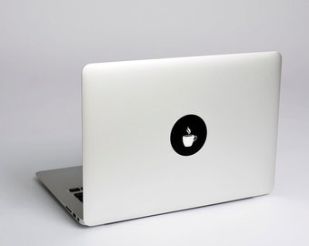Coffee Cup Macbook Sticker Decal
