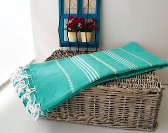 Mint Colored Large Beach Blanket,Picnic Blanket,Large Towel Throw,picnic cover,bed cover,sofa cover,big size towel,family size towel,