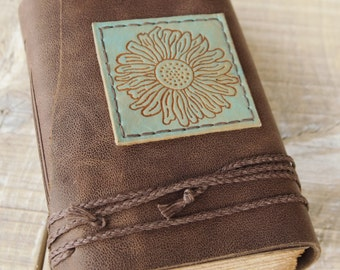 Chestnut Brown Leather Journal, Handbound Journal, Leather Diary, Notebook