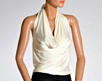 White neckholder Top - size XS / S only