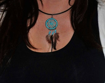 Petite dream catcher necklace