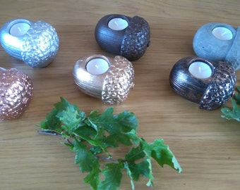 Concrete Acorn Candle holder
