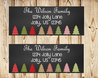 Christmas Return Address Labels, Christmas Address Labels, Holiday Address Labels, Holiday Return Address Labels
