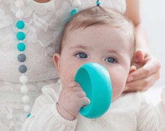 Silicone Bracelet-Black-Bracelet Silicone Large Fuchsia/Chic Mom/Breastfeeding/jewel of dentition/Teething - Silicone Beads / joy in pink