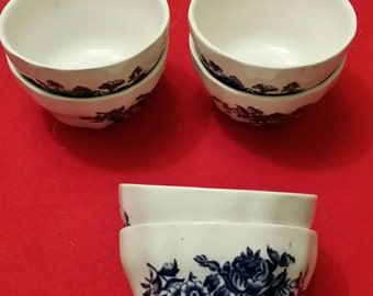 6 small bowls booths peony a8021 vintage china