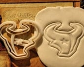 Houston Texans Inspired Cookie Cutter Stamp Set NFL Football Pink BPA FREE